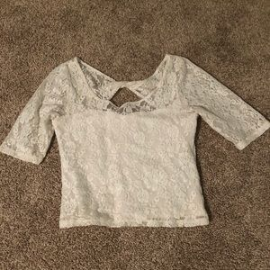 White cropped shirt from Abercrombie